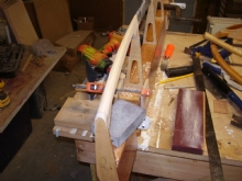 Shaping the tip bow...